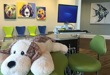 The children's dental treatment room at iGrin dentistry
