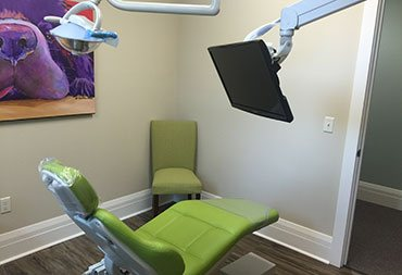 A dental workstation at iGrin dentistry in Boiling Springs