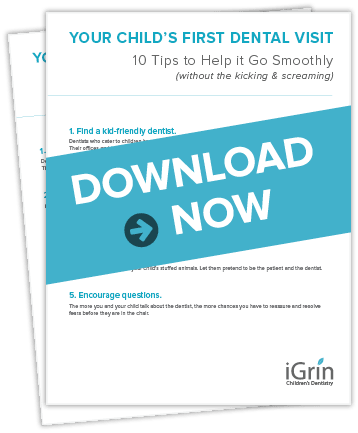 Homepage preview of our free tip sheet for your child's first visit.