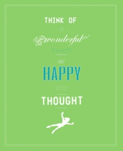 Think of a wonderful thought poster