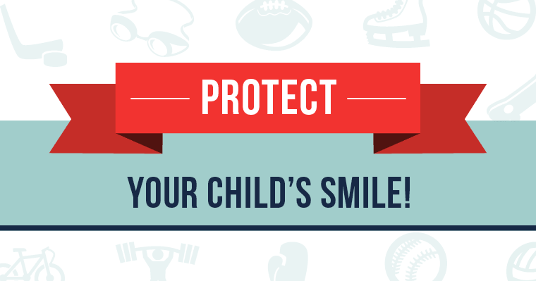 It's important to protect your child' smile with sports mouthguards from your dentist!