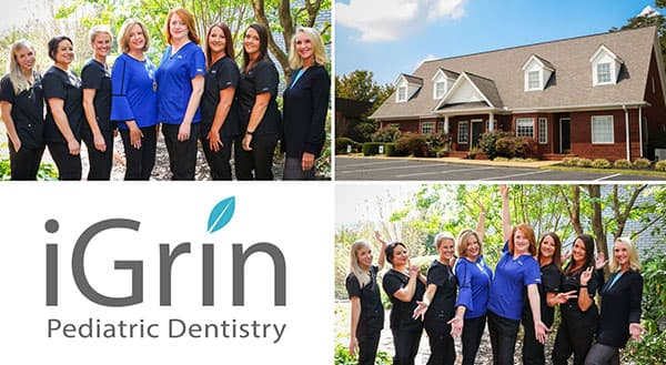 Mobile image of the iGrin Pediatric Dentistry team in Powdersville, SC